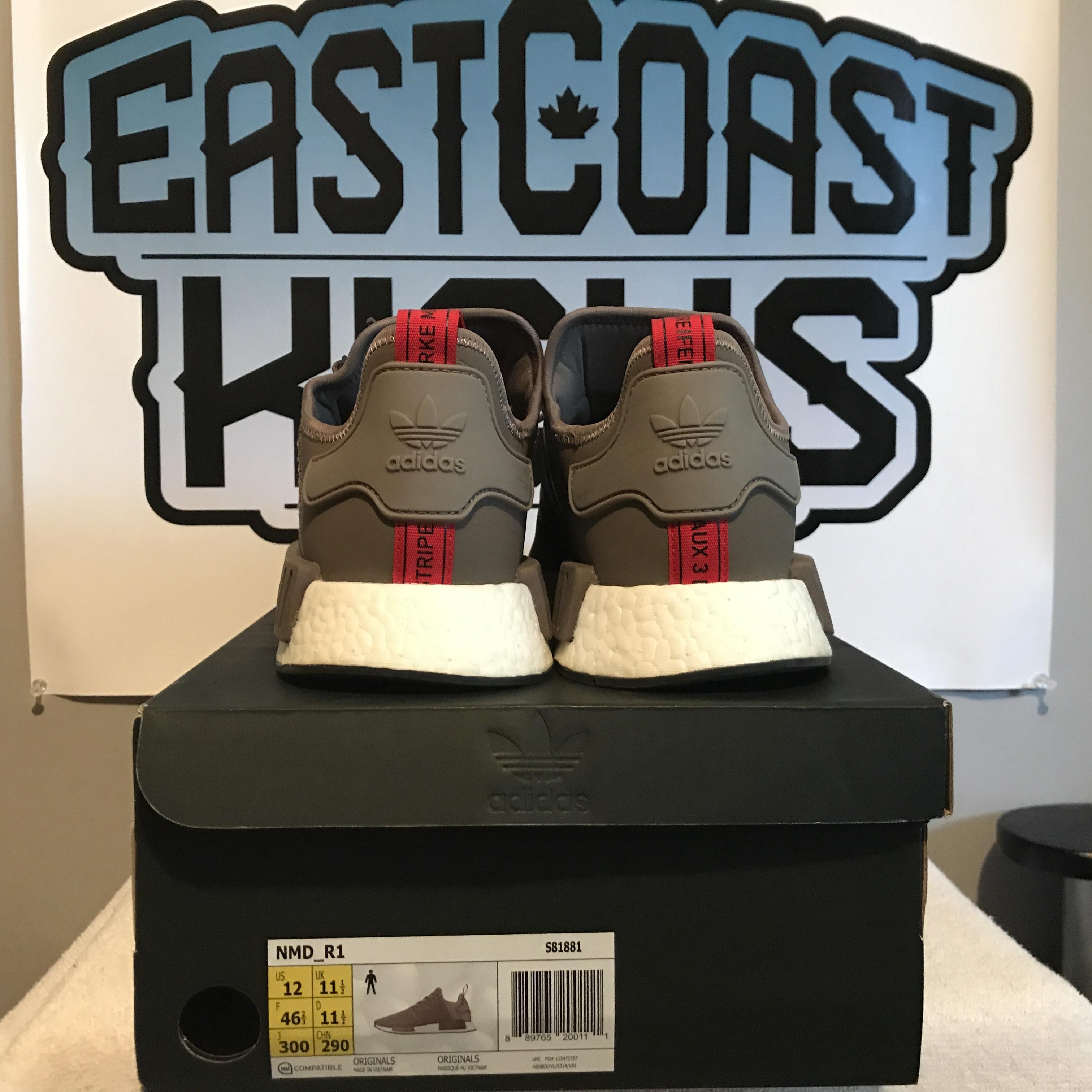 4e86a7a57880 Preowned Adidas NMD R1 Earth Size 12
