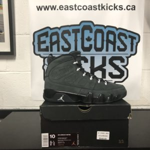 Preowned Jordan 9 Anthracite Size 10