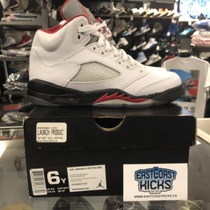 Preowned Jordan 5 Fire Red Size 6Y