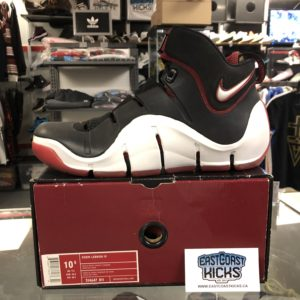 Lebron 4 Black and Red Size 10.5