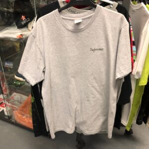 Preowned Supreme Bacchanal Grey Tee Size L