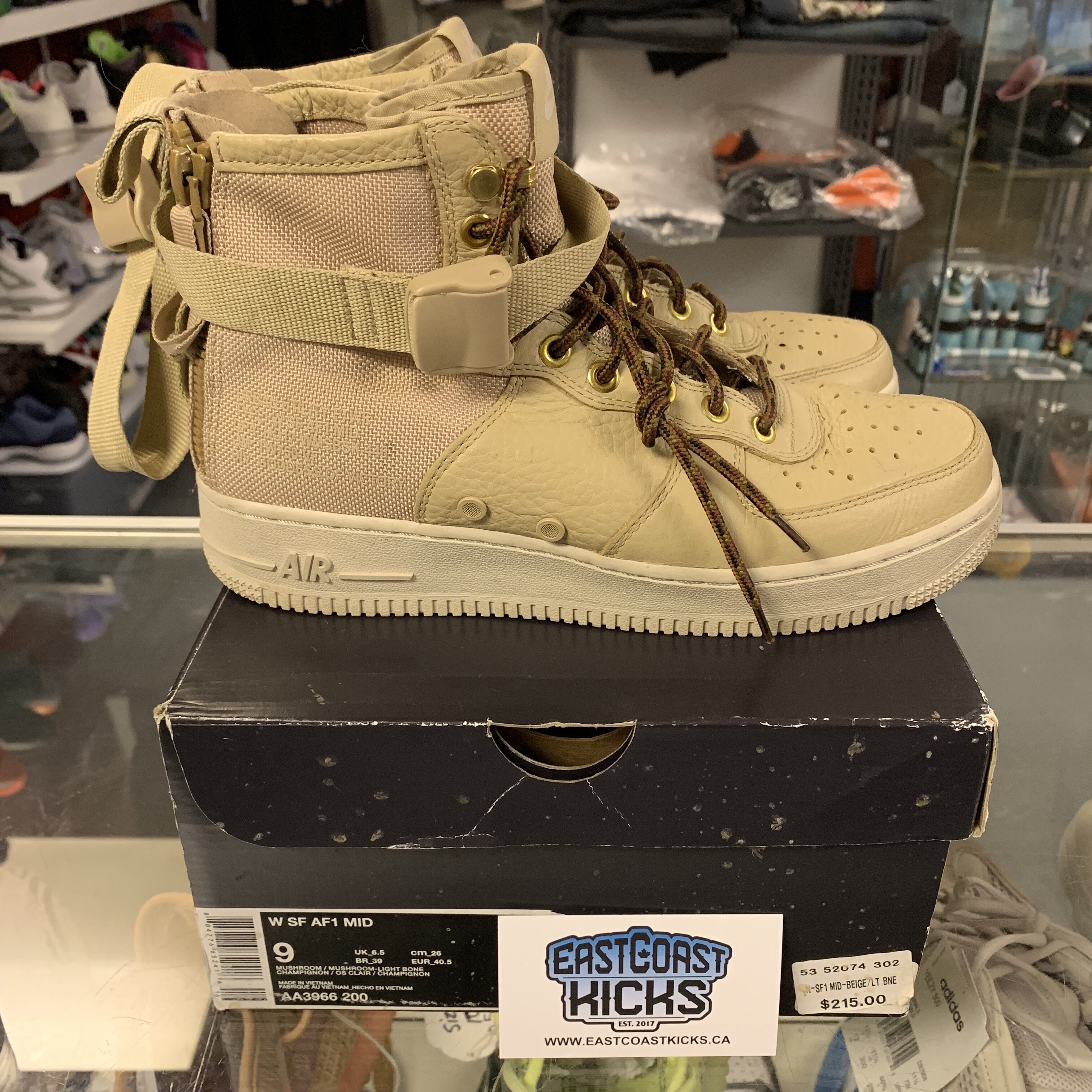 new style eb548 f7f56 Preowned Women's SF Air Force 1 Tan Size 9 W