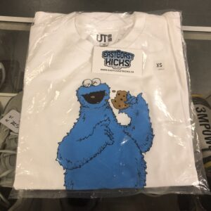 Kaws x Sesame Tee Cookie Monster Size XS
