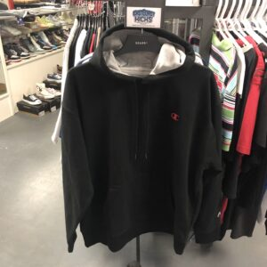 Champion Hoodie Black Red Size XL