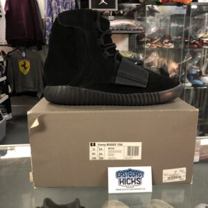 Preowned Yeezy 750 Triple Black Size 11