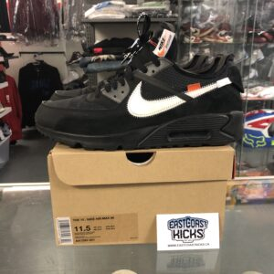 Preowned Off White Air Max 90 Black Size 11.5