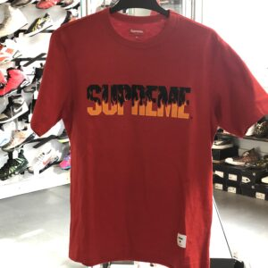 Supreme Flame Tee Red Size M