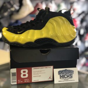 Preowned Nike Air Foamposite Yellow Size 8
