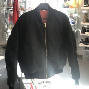 Black Bomber Jacket Size L