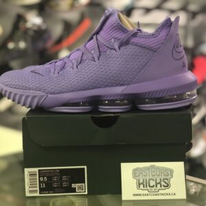 Preowned Lebron 16 Low Purple Size 9.5