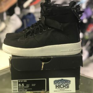 Nike SF Air Force 1 Mid Black/White Size 8.5