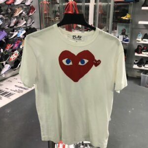 Preowned CDG Tee White Size L