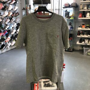 Preowned Supreme Pocket Tee Grey Size L