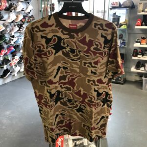 Preowned Supreme Pocket Tee Brown Camo Size L