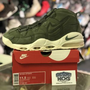 Preowned Air Max Uptempo Olive Size 11.5