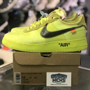 Preowned Off White Air Force 1 Volt Size 12
