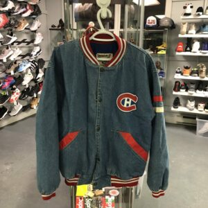 Preowned Montreal Canadians Denim Jacket Size M