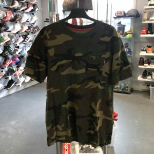 Preowned Supreme Pocket Tee Green Camo Size L