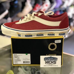 Vans x Rhude Red / White Size 10