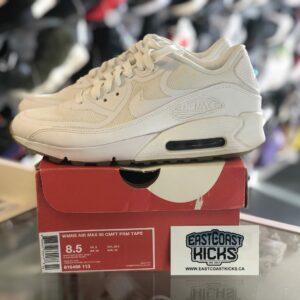 Women's Preowned Nike Air Max 90 White Size 8.5W