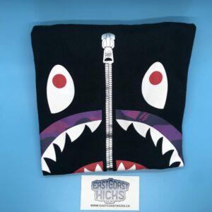 Bape Black / Purple Camo Shark Face Tee Size XL