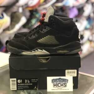 Preowned Jordan 5 Black Metallic Size 6.5