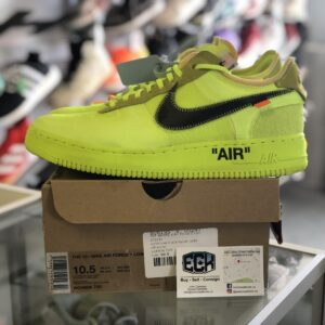 Preowned Off White Air Force Volt Size 10.5