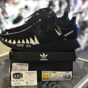 Preowned Adidas NMD R1 Neighbourhood Black Size 10