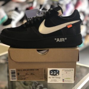 Off White x Nike Air Force 1 Black Size 9