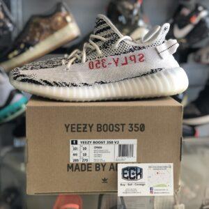 Preowned Yeezy 350 Zebra Size 10.5