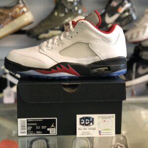 Jordan 5 Fire Red Low GOLF Size 8.5