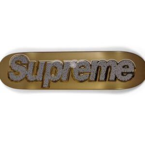Supreme Bling Skateboard Gold (shipping damages)