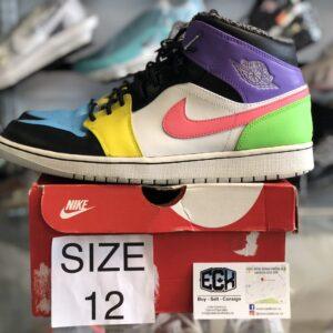 Preowned Jordan 1 Cassic Soles Custom Size 12