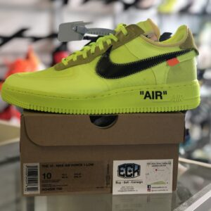 Nike x Off White Air Force 1 Volt Size 10