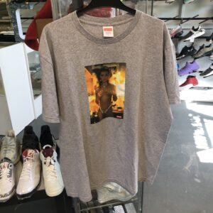 Preowned Supreme Nan Golden Kim Tee Grey Size L