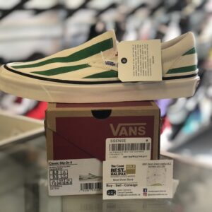 Vans Green and White Size 8