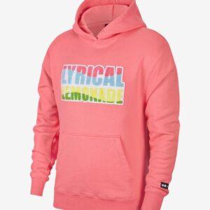 Jordan Lyrical Lemonade Hoodie Pink Size XL
