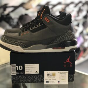 Preowned Jordan 3 Fear Size 10