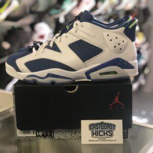 Preowned Jordan 6 Low Seahawks Size 10.5