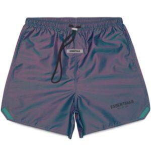 Fear of God Iridescent Multi Colour Shorts Size XXS