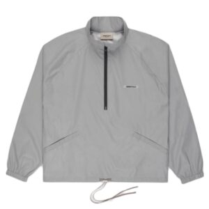 Fear of God Essentials Half Zip Track Jacket Silver Reflective Size L