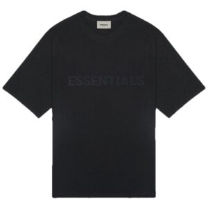 Fear of God Essentials Black Logo Tee Size XXS