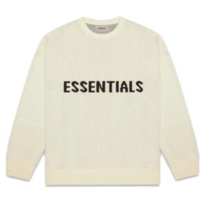 Fear of God Essentials Knit Sweater Buttercream Size L