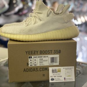 Preowned Adidas Yeezy 350 Butter Size 8.5