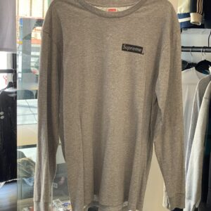 Preowned Supreme Scared Unique Long Sleeve Tee Heather Grey Size L