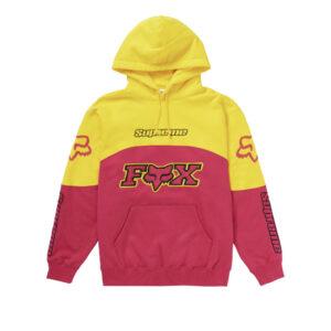 Supreme Fox Hoodie Pink Yellow Size L