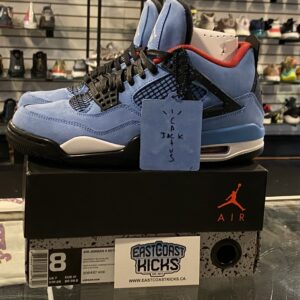 Preowned Jordan 4 Travis Scott Cactus Jack Size 8