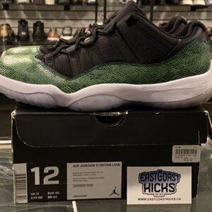 Preowned Jordan 11 Snakeskin Green Size 12