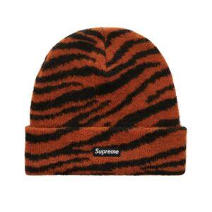 Supreme Mohair Beanie Tiger Stripe