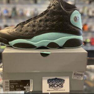 Preowned Jordan 13 Black Island Green Size 13